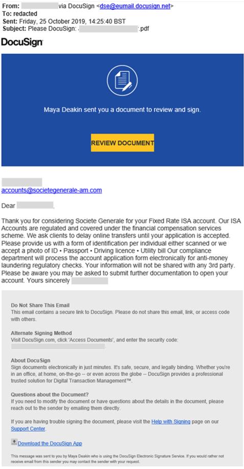Fraud Warning Societe Generale United Kingdom